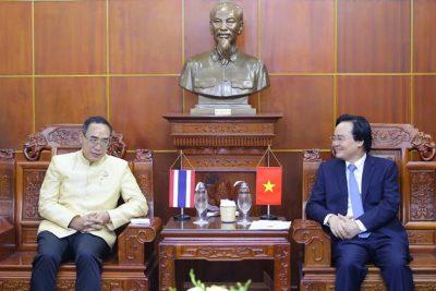 Bộ trưởng Phùng Xuân Nhạ tiếp Đại sứ Thái Lan tại Việt Nam